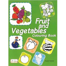 Fruit and Vegetables Colouring Book