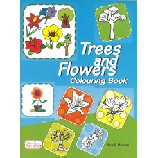 Trees and Flowers Colouring Book